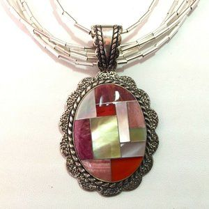Custom Sterling Silver & Coral Necklace